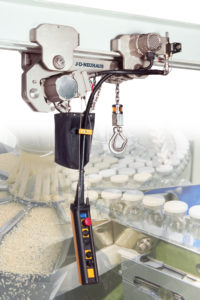 Image of JDN nickel-plated big bag handling air hoist