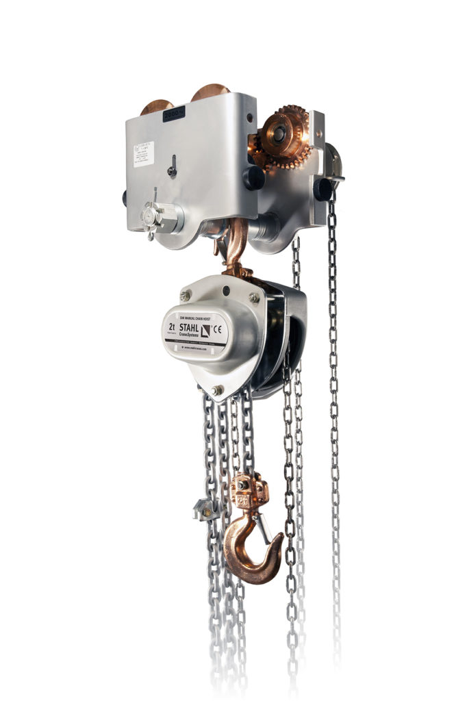 Image of The SHK-ex explosion-protected manual chain hoist