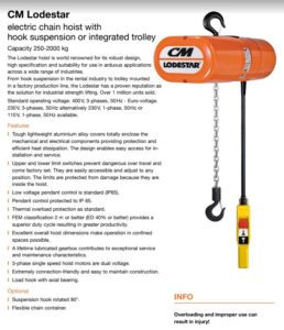 Image of 110v chain hoists – Available for hire
